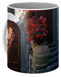 Three Doors In Bagnoregio Coffee Mug