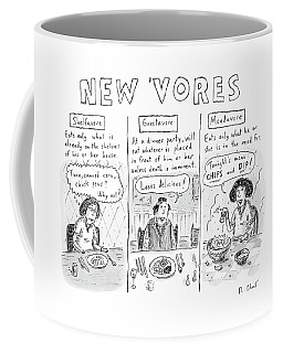Three Eaters In Three Panels: The Shelfavore Coffee Mug