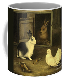 Three Friends Sharing A Moment Coffee Mug by Hazel Holland