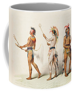 Three Indians Playing Lacrosse Coffee Mug