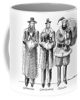 Three Jews Are Standing In A Line Coffee Mug