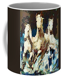 Three Lipizzans Coffee Mug