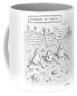 Three Melting Snowmen Are In Denial Coffee Mug