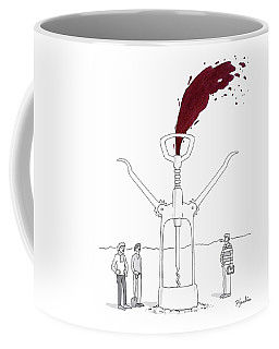 Three Men In Berets Drill Into The Ground Coffee Mug
