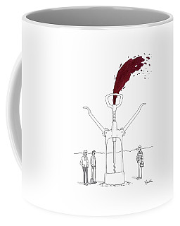 Three Men In Berets Drill Into The Ground Coffee Mug by Charlie Hankin
