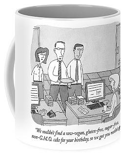 Three Office Workers Coffee Mug