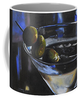 Three Olive Martini Coffee Mug by Donna Tuten