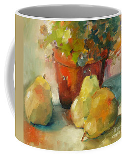 Three Pears And A Pot Coffee Mug