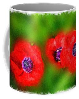 Three Red Popies  Coffee Mug