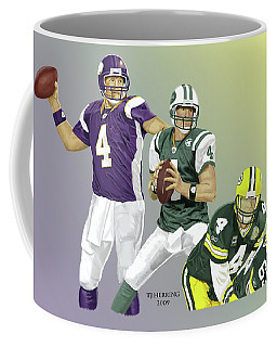 Three Stages Of Bret Favre Coffee Mug