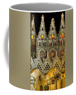 Three Tiers - Sagrada Familia At Night - Gaudi Coffee Mug