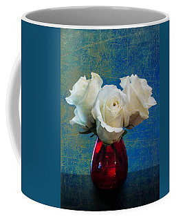 Three White Roses Coffee Mug