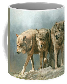 Three Wolves Coffee Mug