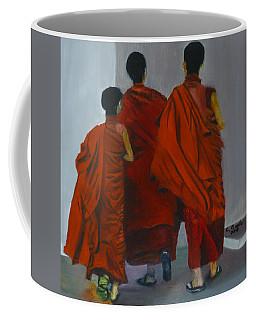 Three Young Monks Coffee Mug