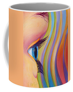 Coffee Mug featuring the painting Through The Eyes Of A Child by Sandi Whetzel