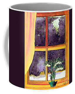 Coffee Mug featuring the painting Through The Window by Patricia Griffin Brett