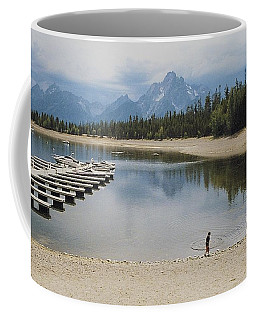 Throwing Rocks Coffee Mug