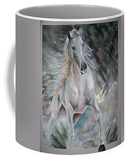 Thrusting Out Coffee Mug by Peter Suhocke