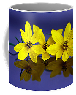 Coffee Mug featuring the photograph Tickseed Trio by Suzanne Stout