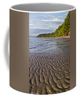 Tidal Pattern In The Sand Coffee Mug by Jeff Goulden