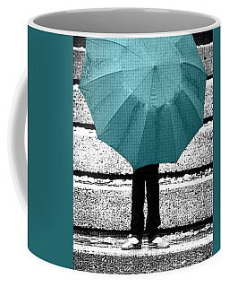 Tiffany Blue Umbrella Coffee Mug
