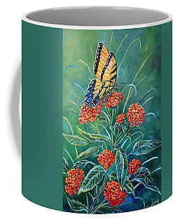 Tiger And Lantana Coffee Mug