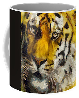 Coffee Mug featuring the painting Tiger by Catherine Lott