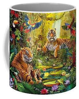 Tiger Family In The Jungle Coffee Mug