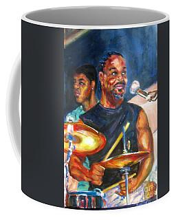 Tiger On Drums Coffee Mug