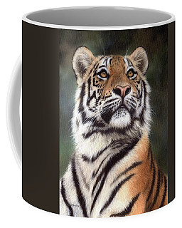 Tiger Painting Coffee Mug by Rachel Stribbling