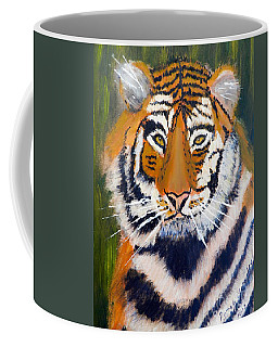 Coffee Mug featuring the painting Tiger by Pamela  Meredith