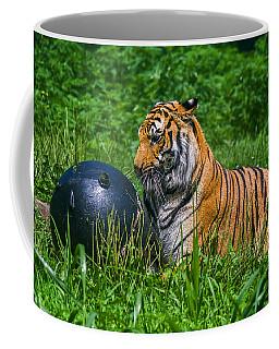 Tiger Playing With Ball Coffee Mug