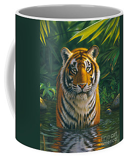 Tiger Pool Coffee Mug