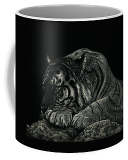 Tiger Power At Peace Coffee Mug