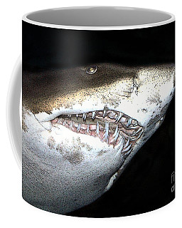 Coffee Mug featuring the photograph Tiger Shark by Sergey Lukashin