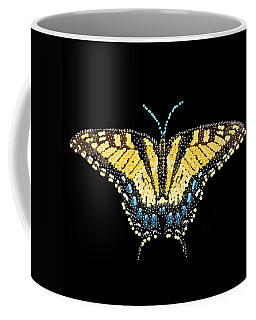 Tiger Swallowtail Butterfly Bedazzled Coffee Mug