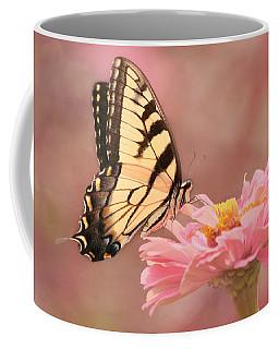Tiger Swallowtail In The Pink Coffee Mug