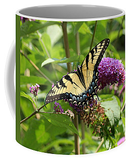 Tiger Swallowtail On Butterfly Bush Coffee Mug