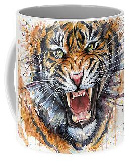 Tiger Watercolor Portrait Coffee Mug