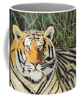Coffee Mug featuring the painting Tigress by Jeanne Fischer