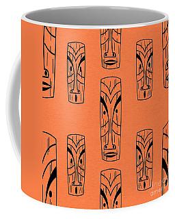 Tiki On Orange Pillow Coffee Mug