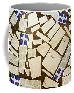 Tile Pieces In Brown Grout Coffee Mug