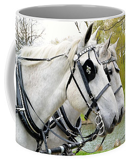 Coffee Mug featuring the photograph Tillie And Bruce #2 by Jeannie Rhode
