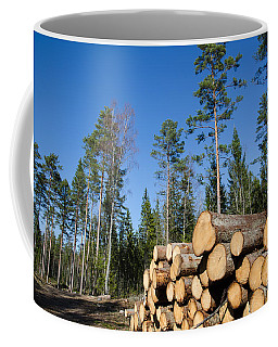 Timber Stack Of Whitewood Coffee Mug