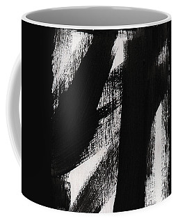 Timber- Vertical Abstract Black And White Painting Coffee Mug