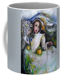 Coffee Mug featuring the painting Time by Laurie Lundquist