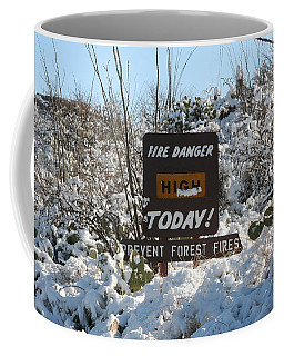 Coffee Mug featuring the photograph Time To Change The Sign by David S Reynolds