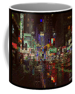 Times Square At Night - After The Rain Coffee Mug