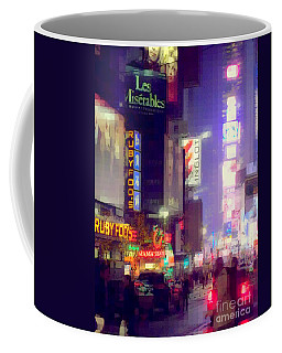 Times Square At Night - Columns Of Light Coffee Mug