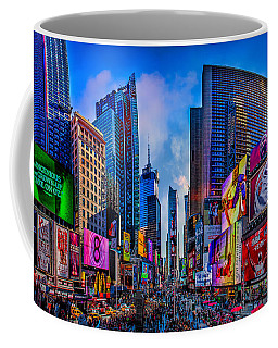 Coffee Mug featuring the photograph Times Square by Chris Lord